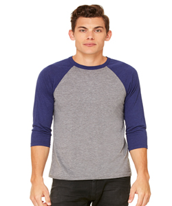 Bella+Canvas Unisex 4.0 Ounce 3/4 Sleeve Baseball T-Shirt