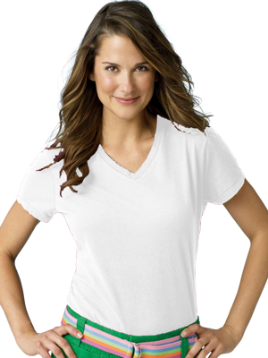 Hanes® Ladies 4.5 Ounce Nano-T® V-Neck T-shirt