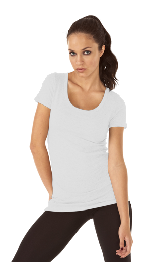 Next Level Ladies 4.3 Ounce Tri-Blend Scoop Neck T-Shirt